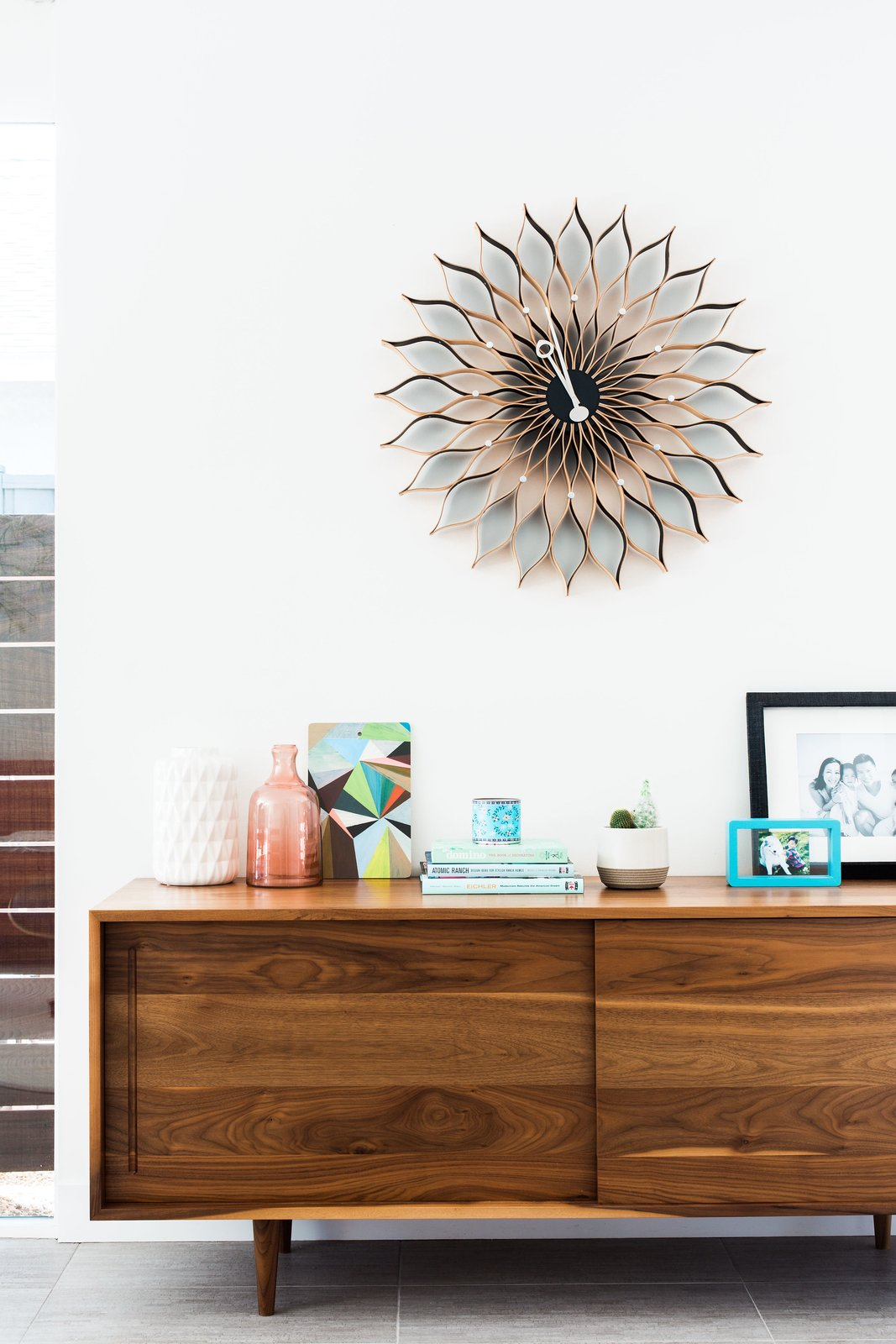 Living Room and Console Tables  Photo 9 of 11 in An Interior Designer Launches Her Career by Renovating Her Family's Midcentury Eichler