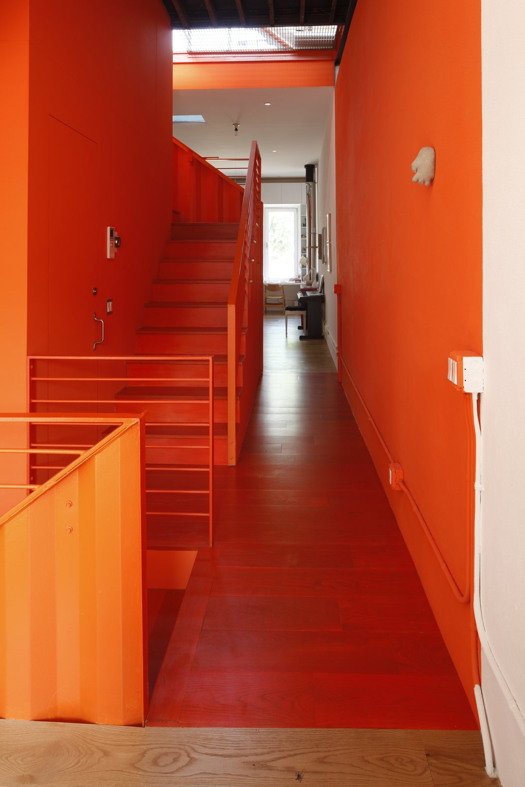 Staircase, Metal Railing, and Metal Tread  Photo 8 of 12 in A Brooklyn Carriage House Is Revamped With a Penthouse Made From Shipping Containers