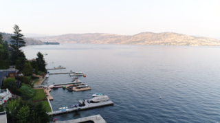 Every room in the Cross home was designed with views of Canada's shimmering Okanagan Lake.