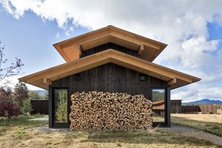 The raised roofs make room for clerestory windows that run the length of the building.