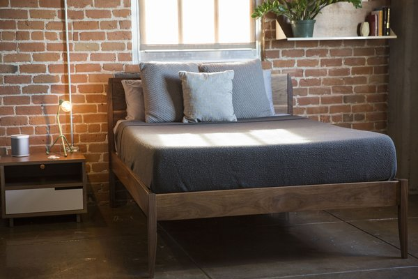 The Florence Solid Walnut Platform Bed Frame