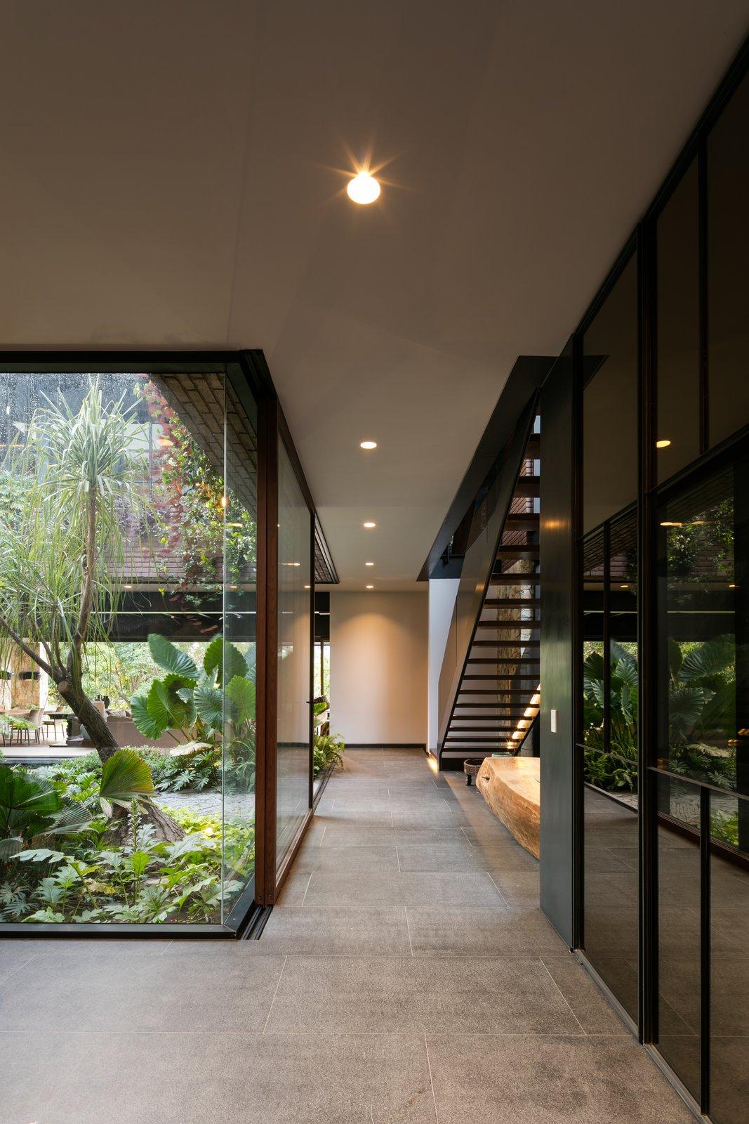 Hallway and Porcelain Tile Floor  Casa OM1
