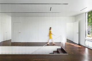 The Vertically Oriented Cable Railing In This Modern House In Tennessee  Acts As A Screen