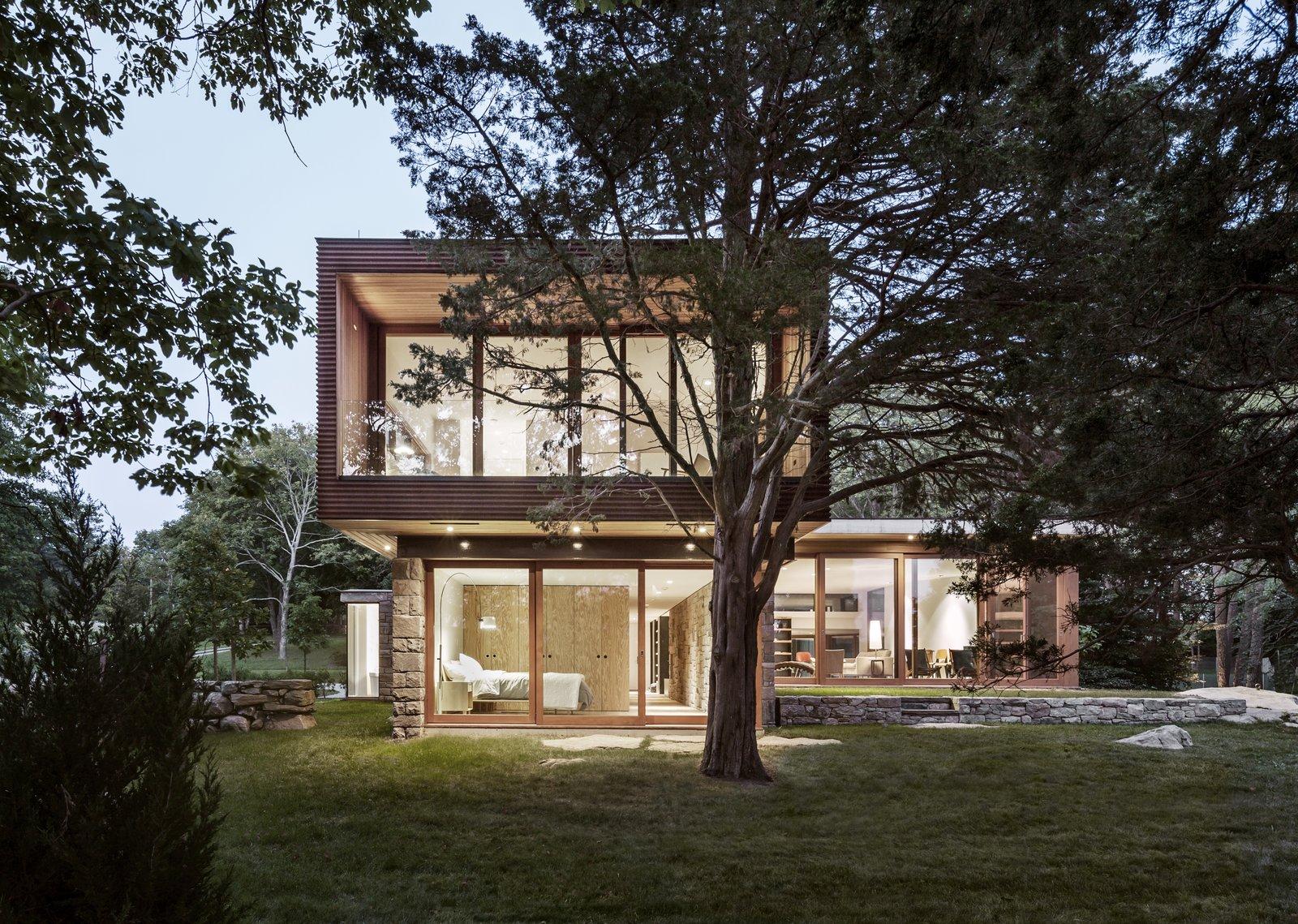 Exterior, House Building Type, Metal Roof Material, Wood Siding Material, Metal Siding Material, and Flat RoofLine  Best Photos