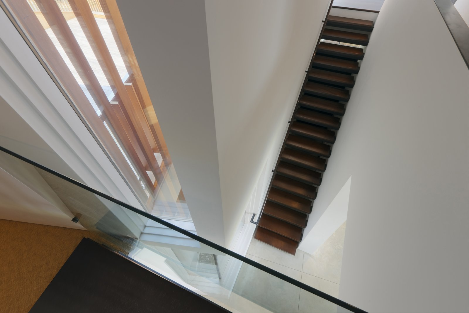Staircase and Wood Tread  Spiral House by Joeb Moore & Partners