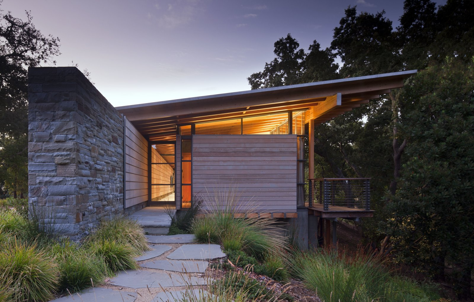 Exterior, House Building Type, Wood Siding Material, Stone Siding Material, and Glass Siding Material  Halls Ridge Knoll by Bohlin Cywinski Jackson