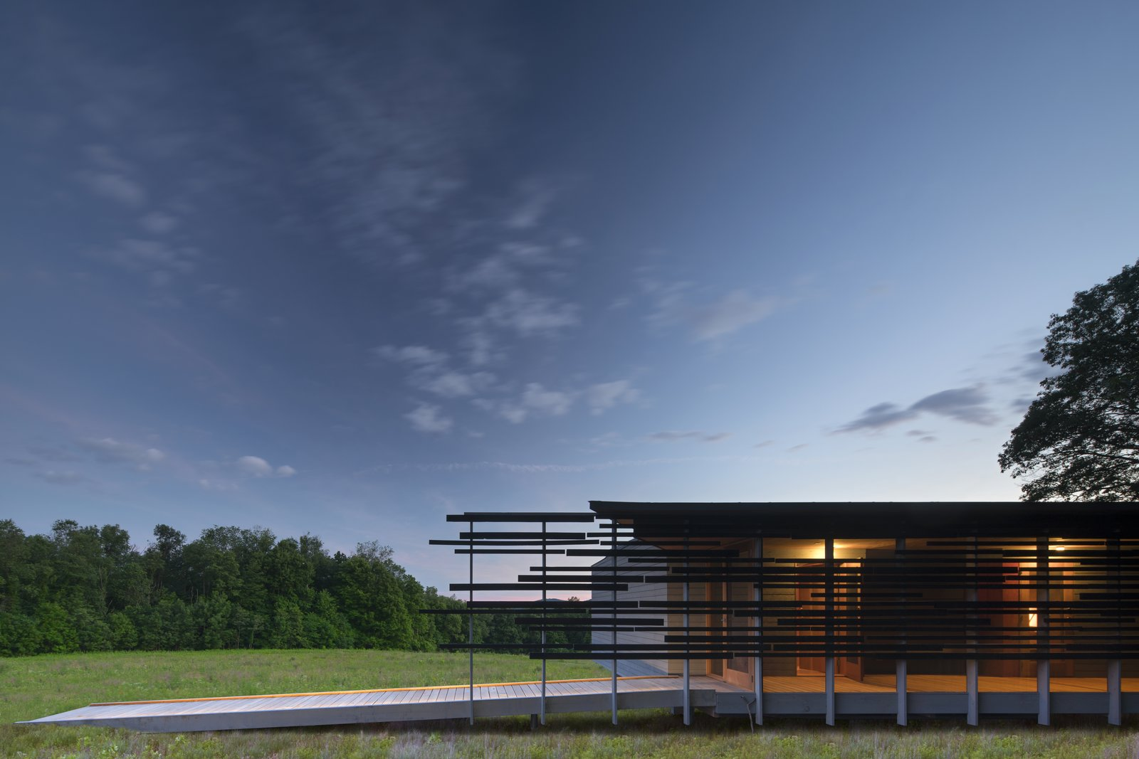 Outdoor, Grass, Decking Patio, Porch, Deck, and Side Yard  High Meadow at Fallingwater by Bohlin Cywinski Jackson