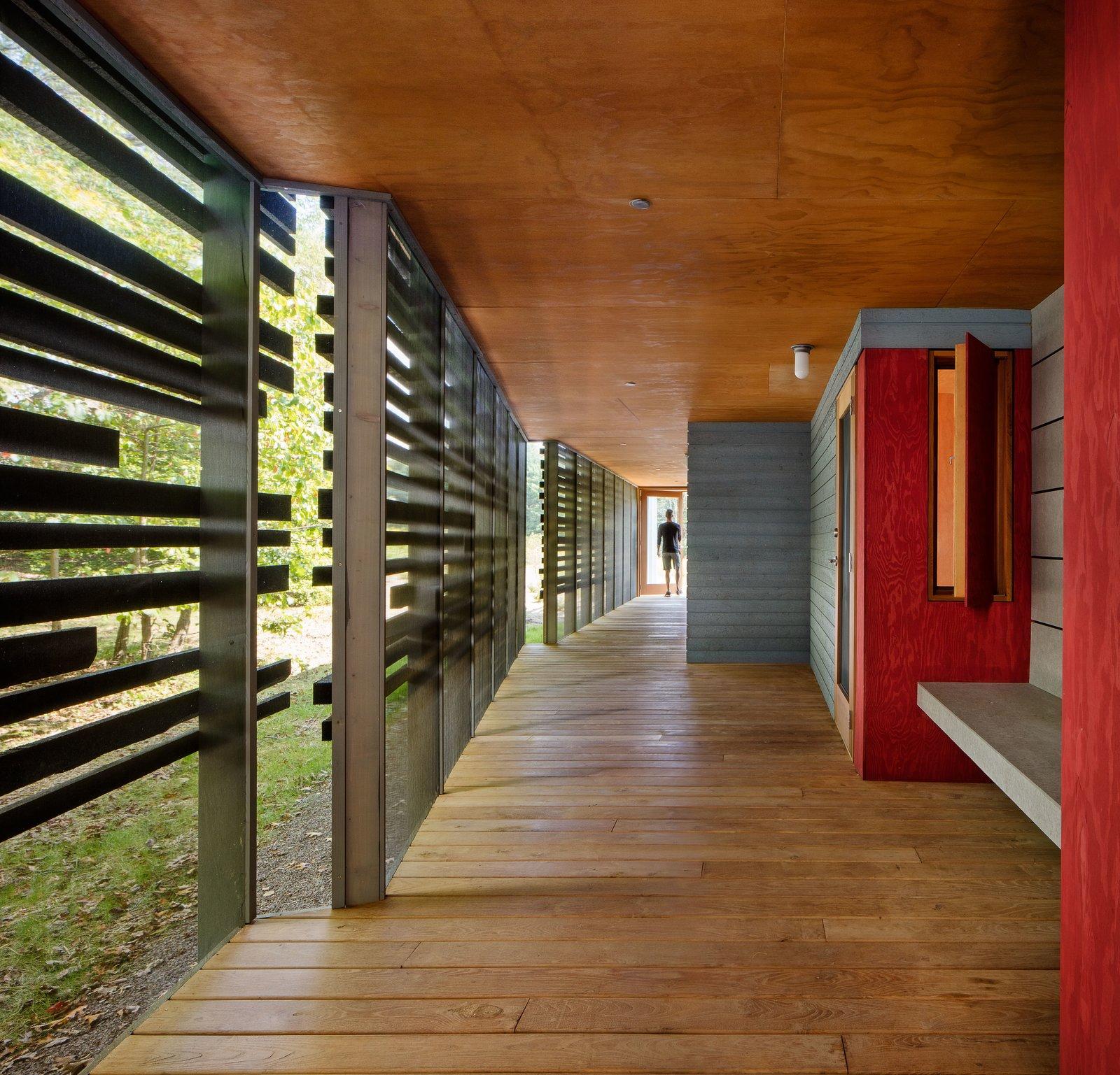 Hallway and Medium Hardwood Floor  High Meadow at Fallingwater by Bohlin Cywinski Jackson