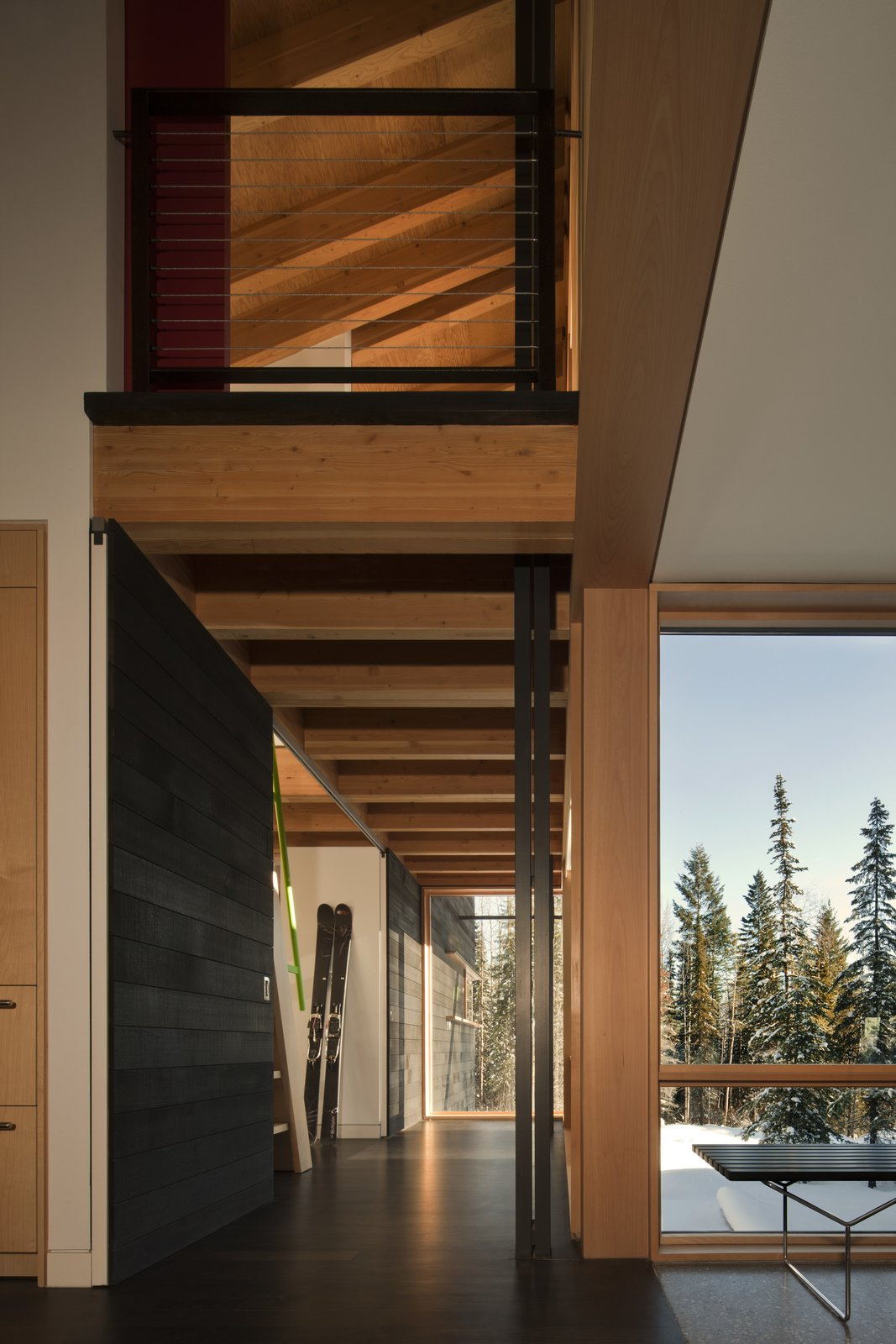 Hallway  Kicking Horse Residence by Bohlin Cywinski Jackson