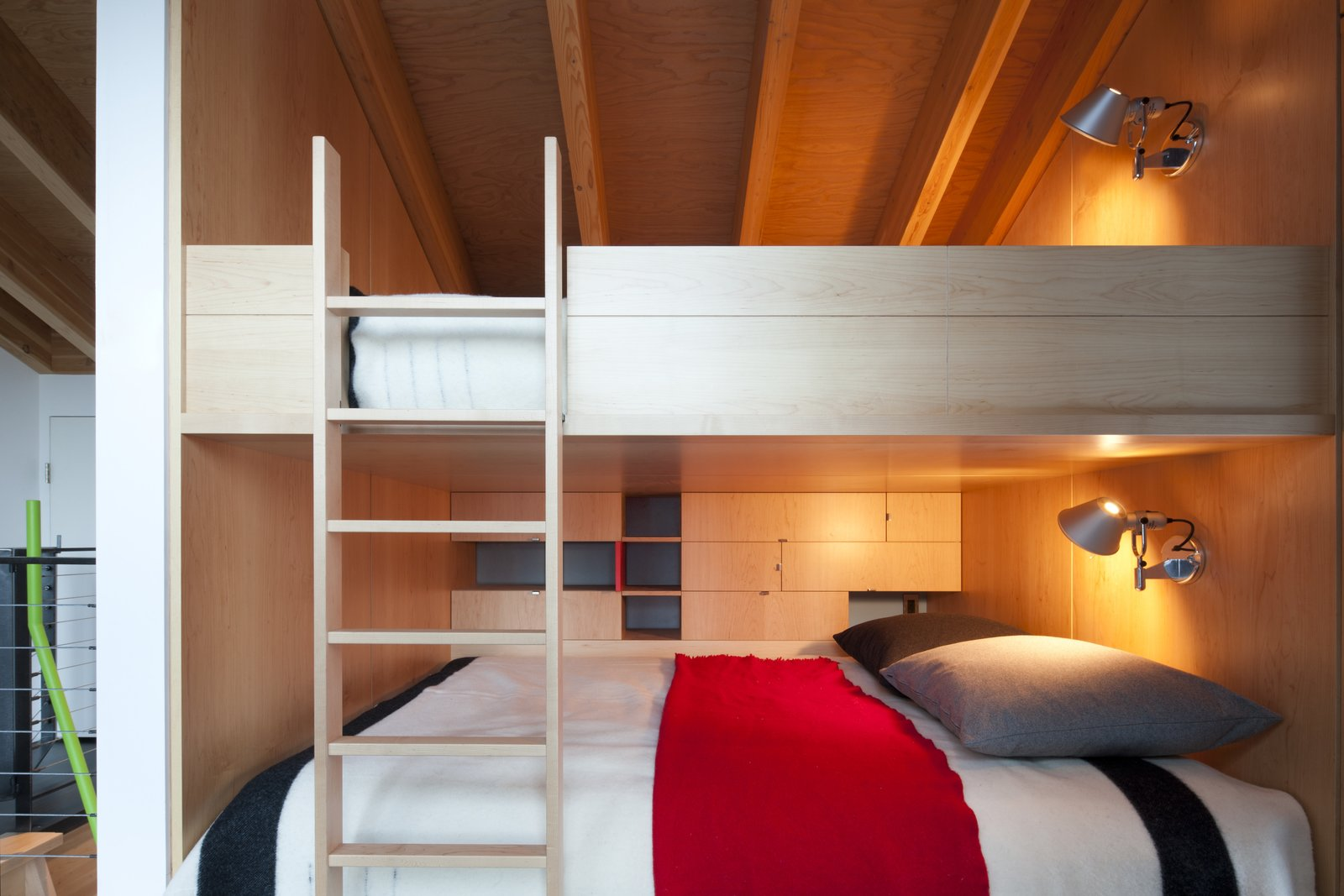 Bedroom, Bunks, and Wall Lighting  Best Photos from Kicking Horse Residence