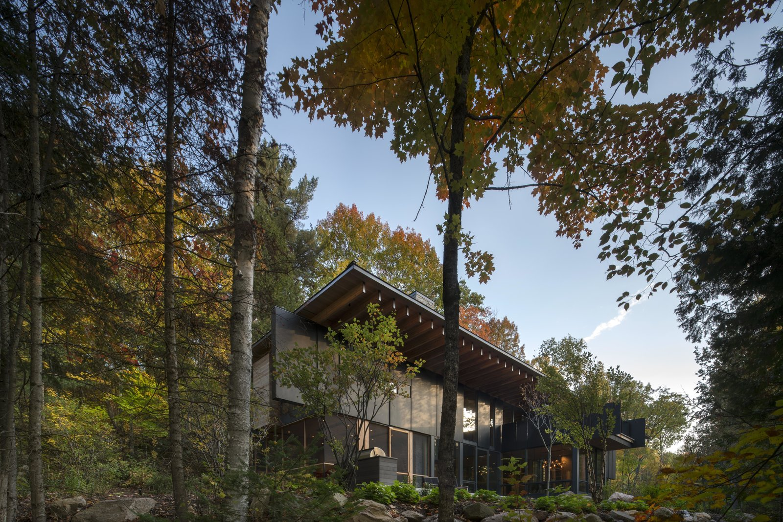 Exterior, House Building Type, Metal Roof Material, and Flat RoofLine  The Bear Stand by Bohlin Cywinski Jackson