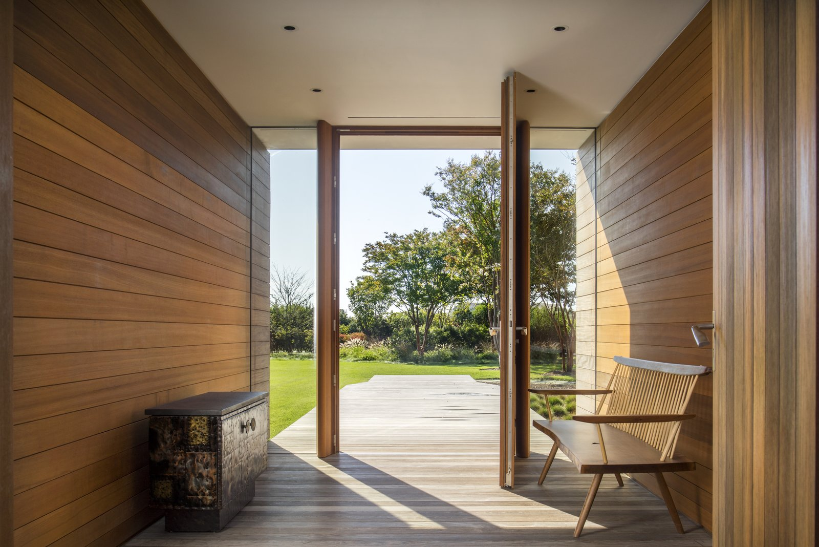 Hallway and Medium Hardwood Floor  Best Photos from Hamptons Residence