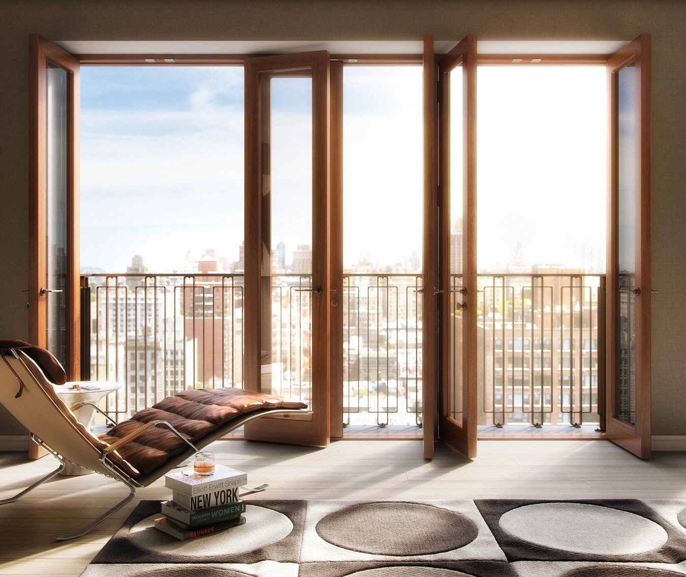 Hansen employed danish masonry brick work and solid mahogany framed windows for his residential project, Two Ten West 77.  Photo 6 of 6 in Danish-Modern Master Thomas Juul-Hansen Talks About Timeless Design