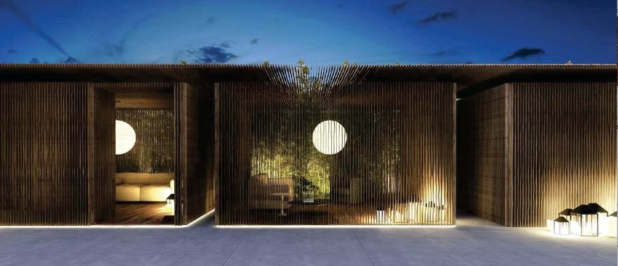 Cabana at night  Photo 7 of 7 in Q&A With Master Architect and Designer Piero Lissoni