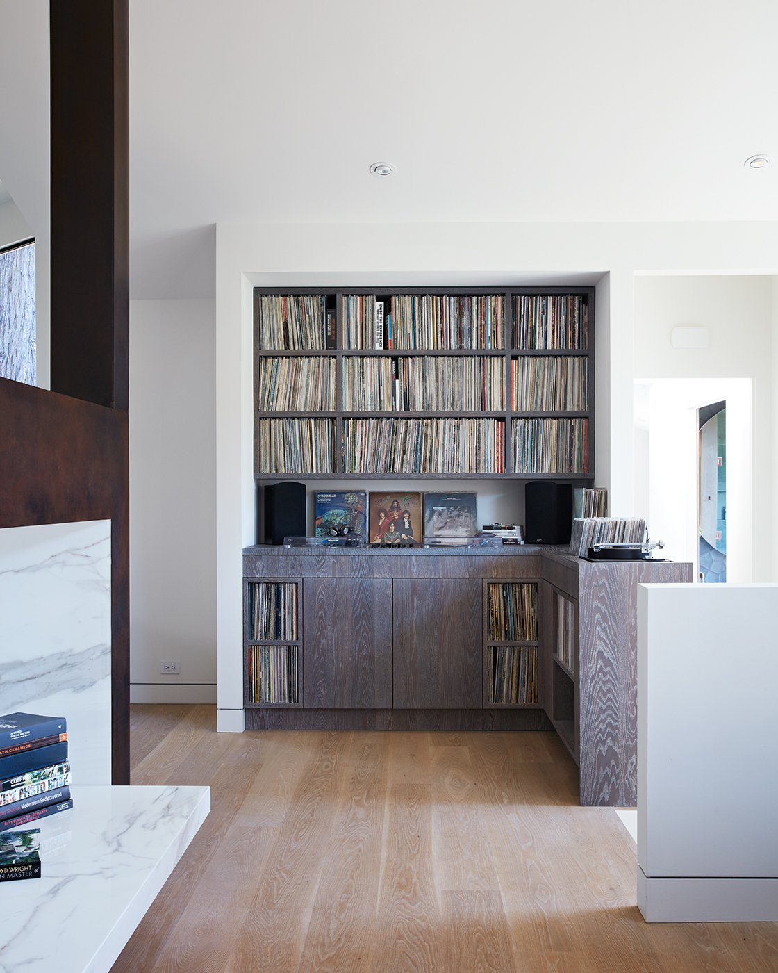 Storage Room, Shelves Storage Type, and Cabinet Storage Type  Best Photos from Thoughtful Design Details Warm Up a Modern Family Home in Northern California