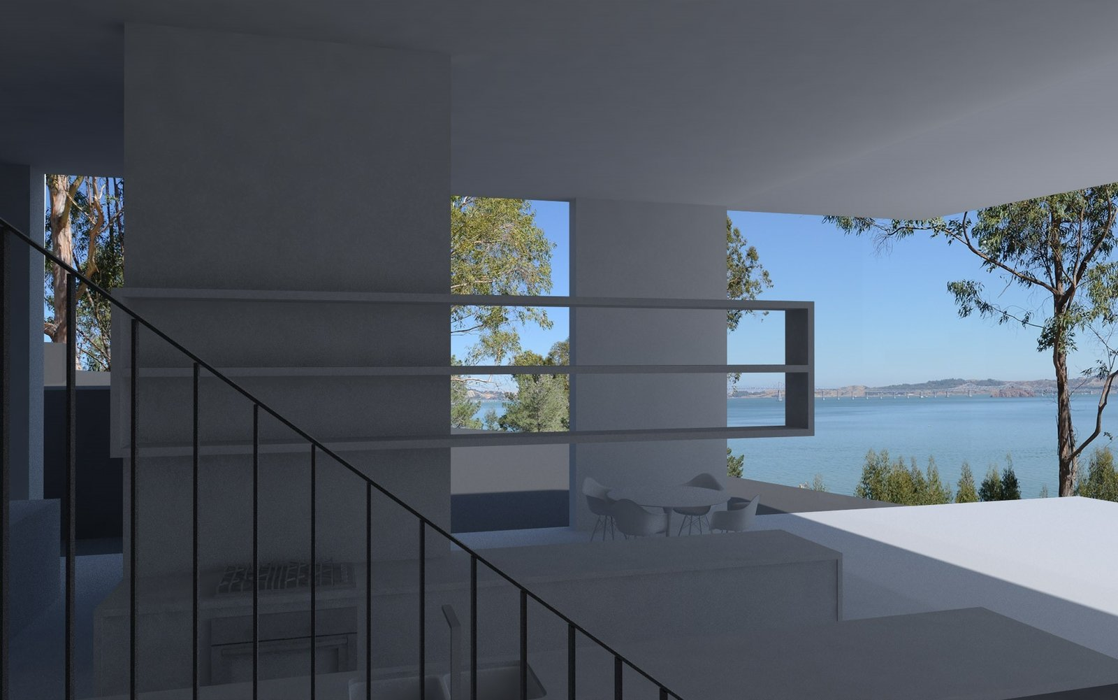 Living Room  Photo 8 of 8 in Soon to Be Completed, These Striking Beachfront Estates Are Designed by 2 All-Star Architects