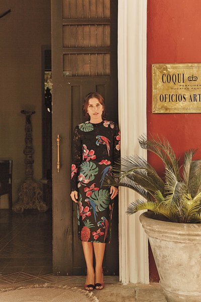 Coqui Coqui Lifestyle Group cofounder Francesca Bonata outside of the company offices in Yucatán, Mexico.