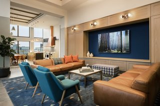 """Tour a New Residential High-Rise That's Uniquely """"Chicago"""" - Photo 9 of 11 - The den"""