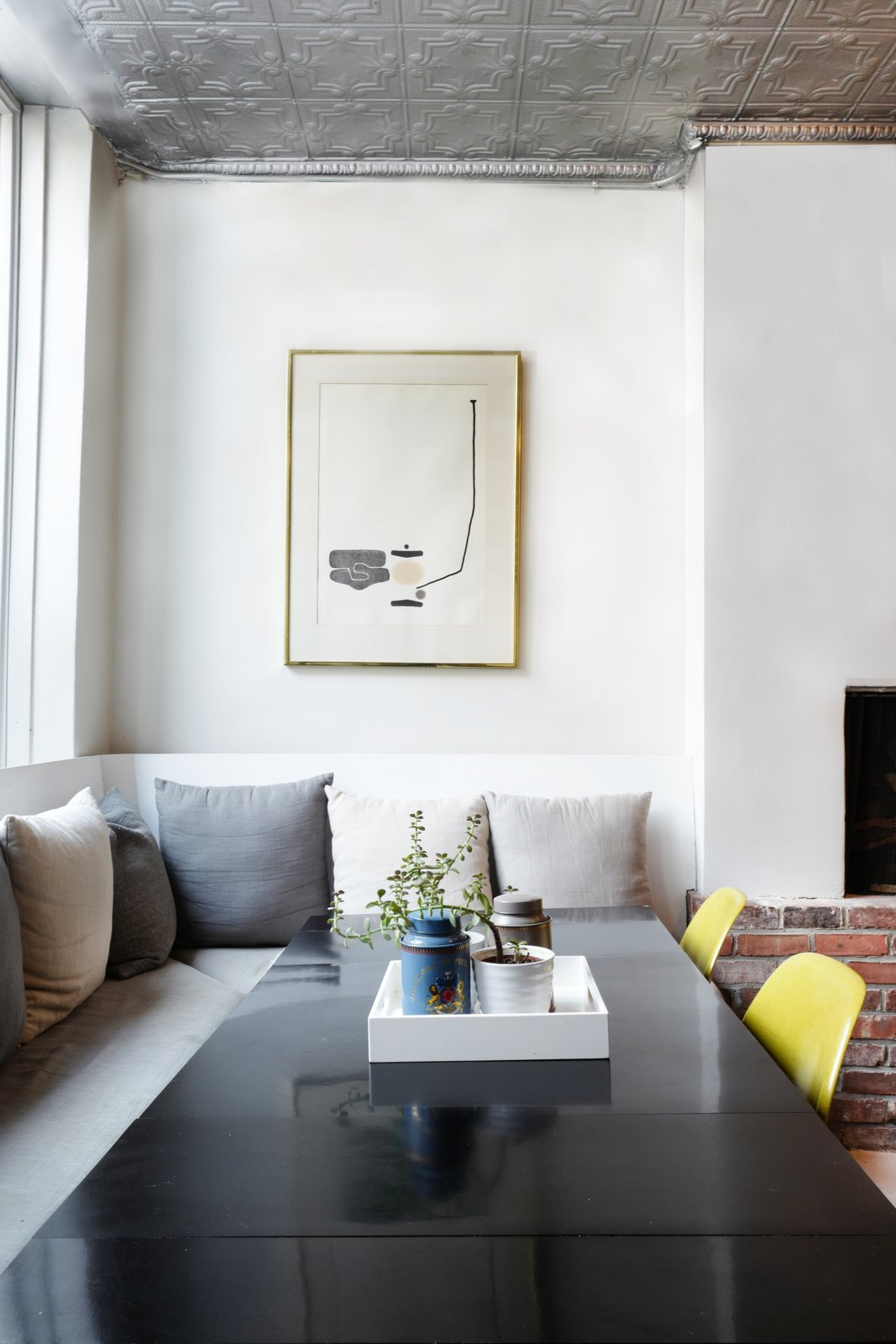 Dining Room, Chair, and Table  Photo 9 of 16 in A Design Duo's 19th-Century Brooklyn Townhouse Is Filled With Art They Love