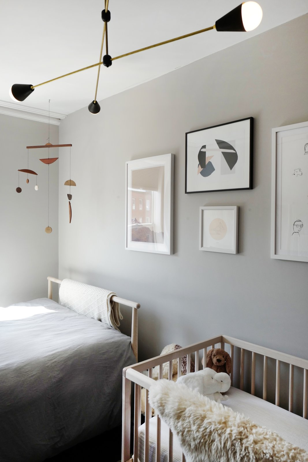 Kids Room, Neutral Gender, Pre-Teen Age, Toddler Age, Bed, and Bedroom Room Type  Photo 14 of 16 in A Design Duo's 19th-Century Brooklyn Townhouse Is Filled With Art They Love