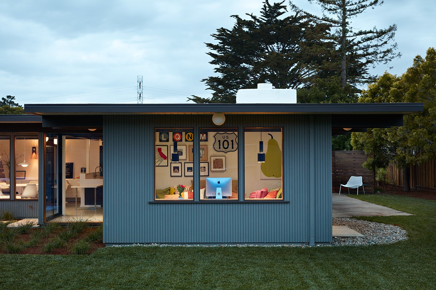 Exterior, Mid-Century Building Type, and House Building Type  Photo 10 of 11 in A Midcentury Eichler in San Mateo Is Turned Into a Functional Family Home