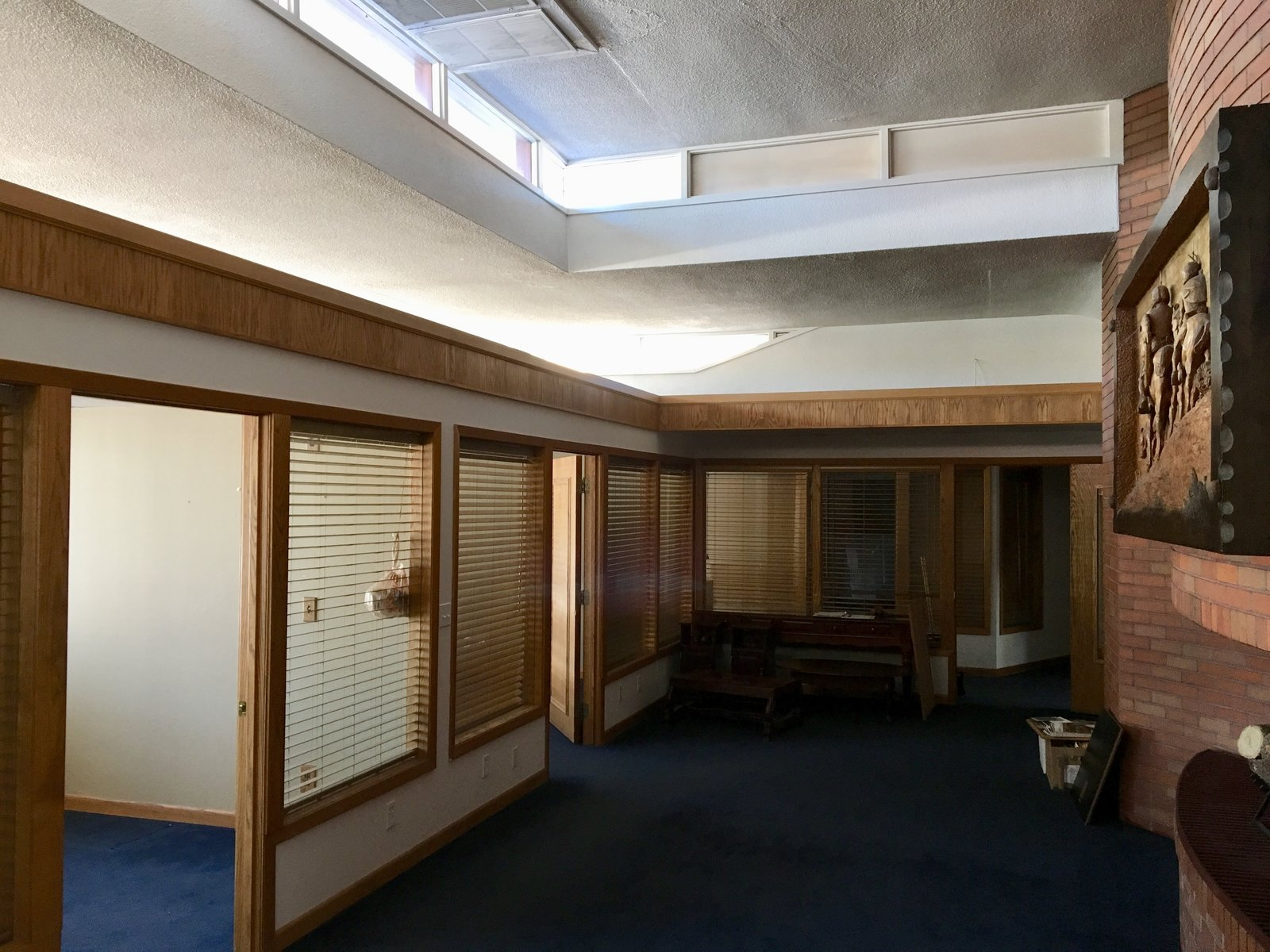 Hallway and Carpet Floor  Photo 3 of 7 in Without a Buyer, This Frank Lloyd Wright Building Will Be Destroyed in 3 Days
