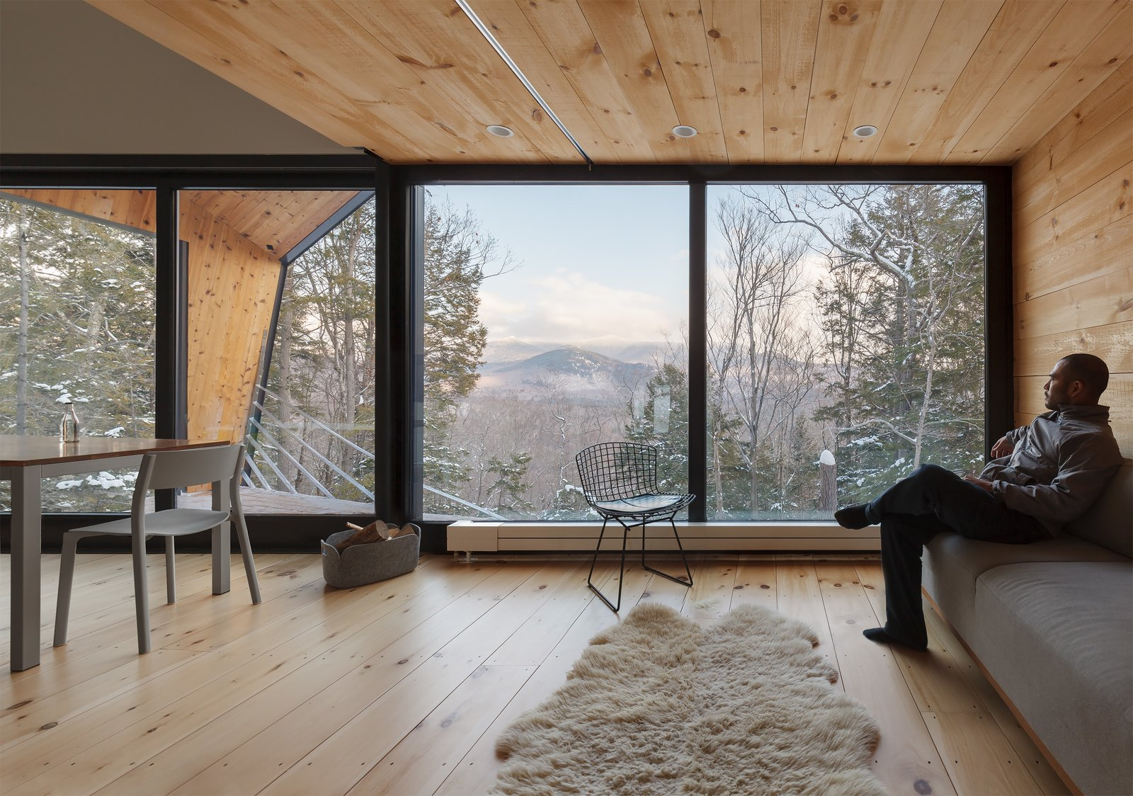 Windows, Picture Window Type, Sliding Window Type, and Metal  Photo 12 of 18 in A Prefab Cabin in New Hampshire Is a Magnificent Mountain Retreat