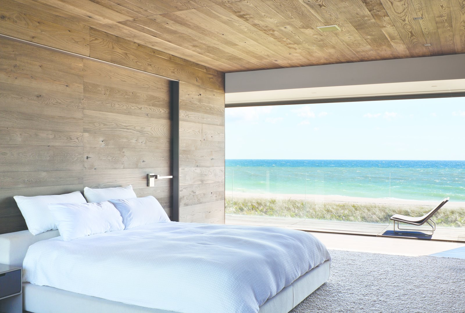 Bedroom, Bed, Chair, Night Stands, Recessed Lighting, and Ceiling Lighting  Best Photos from Sagaponack, NY