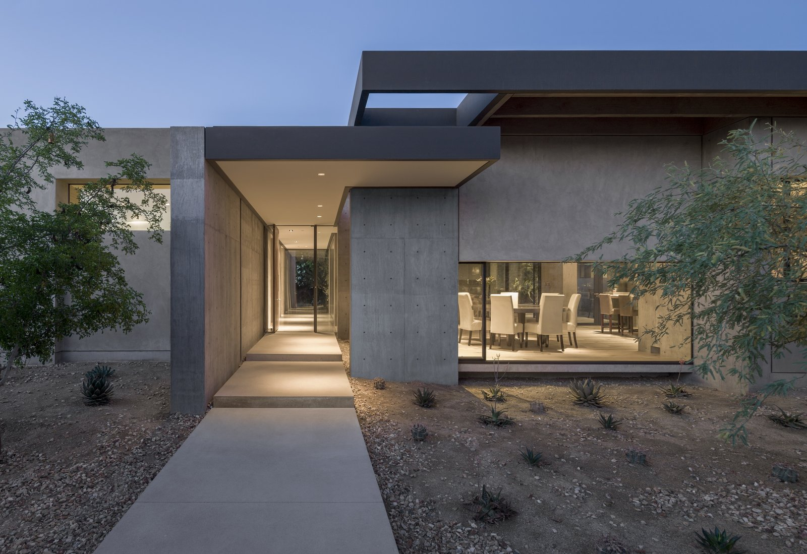 Outdoor, Side Yard, Trees, Pavers Patio, Porch, Deck, Shrubs, and Concrete Patio, Porch, Deck  DLL 59 by TENNEN   STUDIO