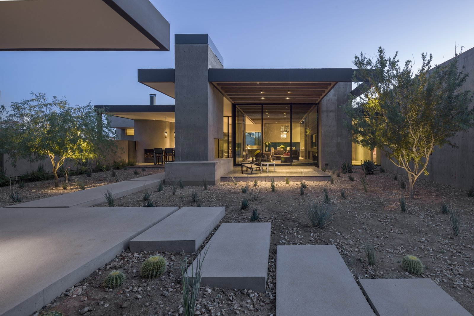 Outdoor, Desert, and Concrete Patio, Porch, Deck  DLL 59 by TENNEN   STUDIO