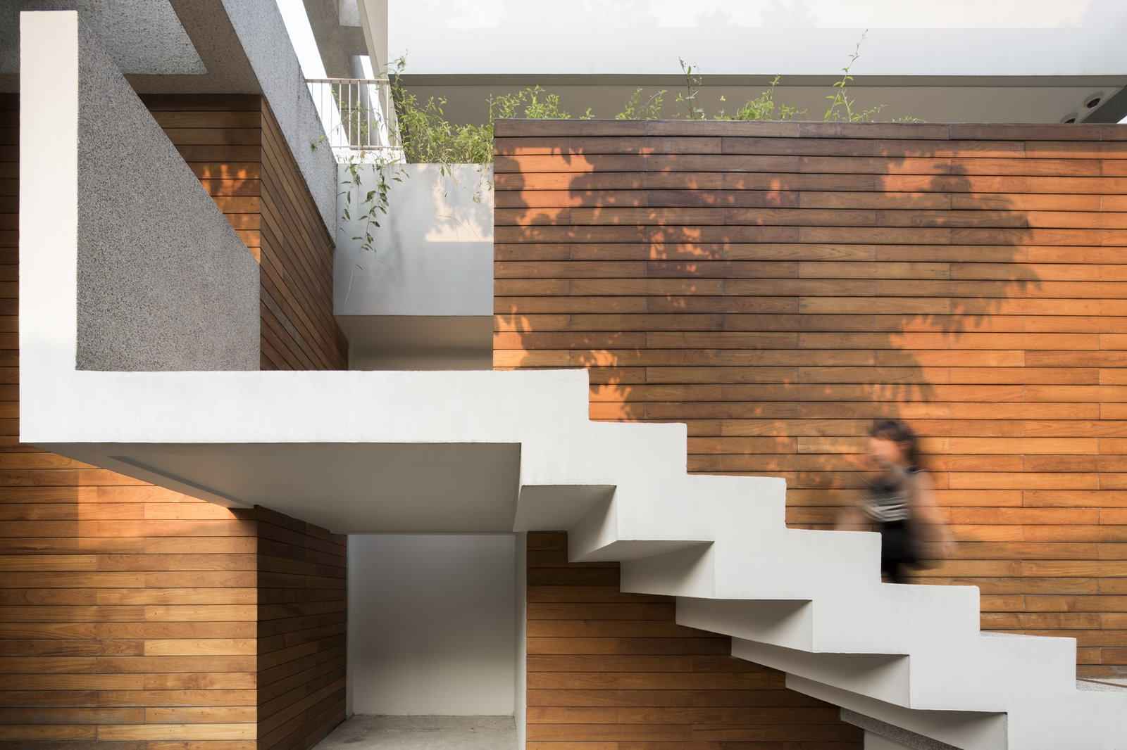 Staircase and Concrete Tread  Re-Gen House by EKAR