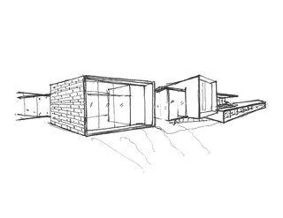 Shown here is an example of a hand-sketched conceptual design.