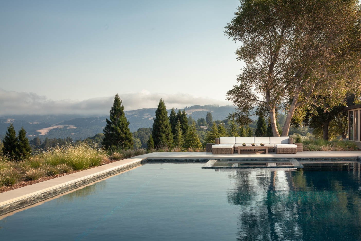 Outdoor, Hardscapes, Large Pools, Tubs, Shower, Back Yard, and Large Patio, Porch, Deck  A pool with a view by Agnieszka Jakubowicz