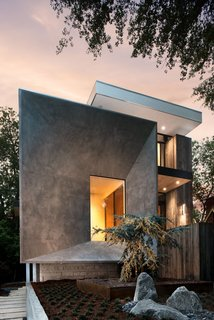 Designed by West Architecture Studio, this home in Atlanta, Georgia, was inspired by the geometric construction of the tesseract (the four-dimensional analogue of a cube).