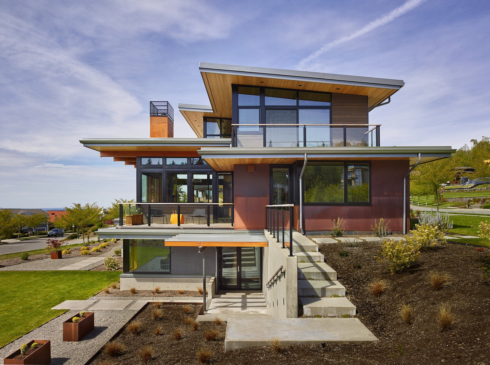 Outdoor  Issaquah Highlands Residence by Studio Zerbey Architecture