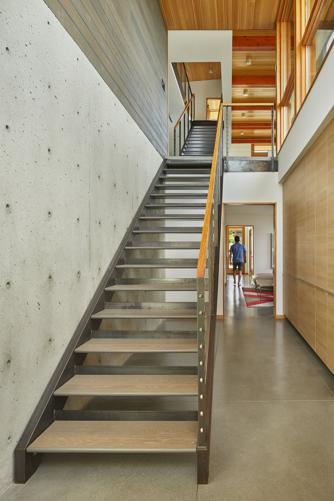 Staircase, Wood Tread, Metal Tread, and Metal Railing  Issaquah Highlands Residence by Studio Zerbey Architecture & Design