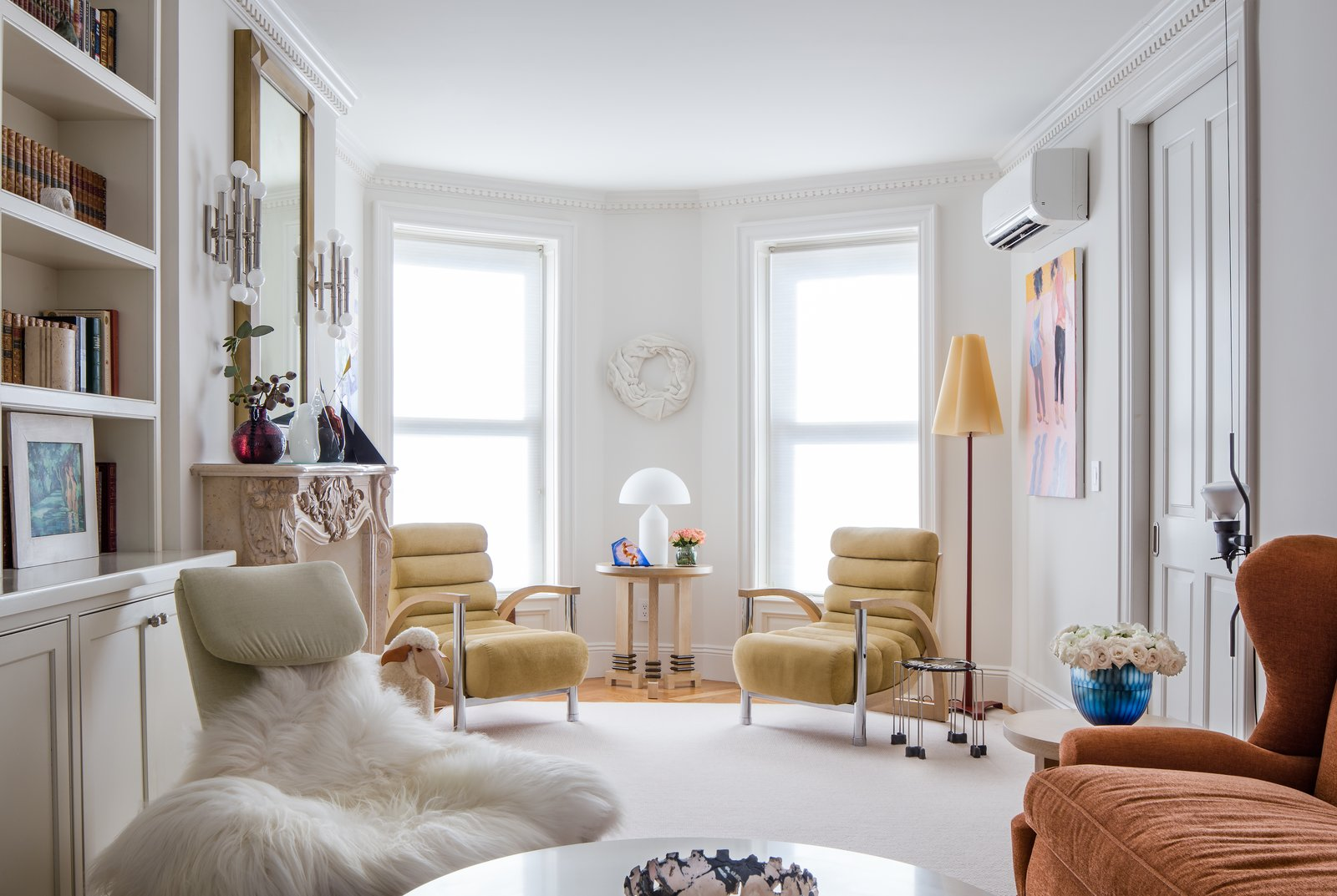 Wall, Swing, Medium Hardwood, Standard Layout, Interior, End Tables, and Living  Best Living Medium Hardwood Interior Photos from Greenpoint Townhouse