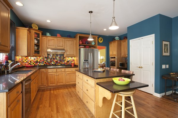 Wegner Multi-Colored Kitchen Backsplash