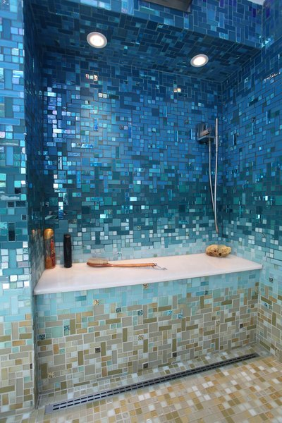 A Tropical Glass Tile Get-away at Home