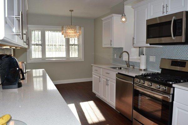 Curved Milk Glass Tile Kitchen Backsplash - Dwell