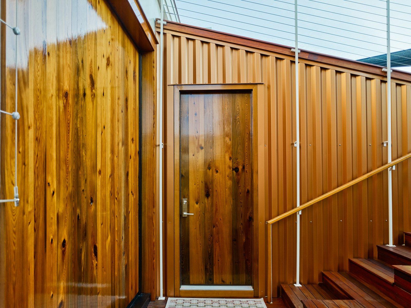 Doors, Exterior, Wood, Sliding Door Type, and Swing Door Type  SKY residence