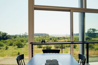 The home features expansive wetland views.