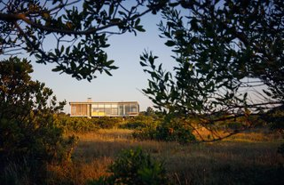 Ryall deftly integrated the home into its natural setting.