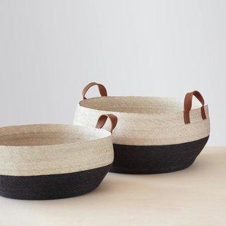 The Citizenry Mercado Floor Baskets - Black