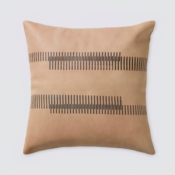 The Citizenry Amer Leather Pillow