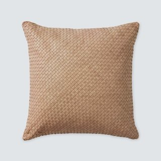 The Citizenry Dhara Leather Square Pillow