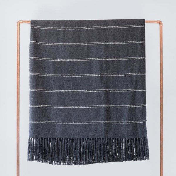 The Citizenry Abeto Bed Blanket - Charcoal