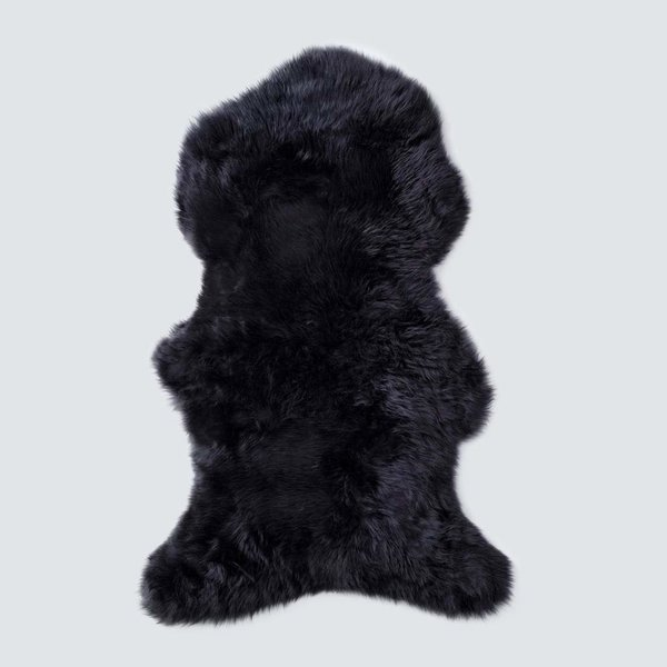 The Citizenry Sheepskin Throw - Large - Black