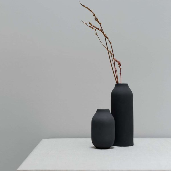 The Citizenry Black Engobe Vase - Tall