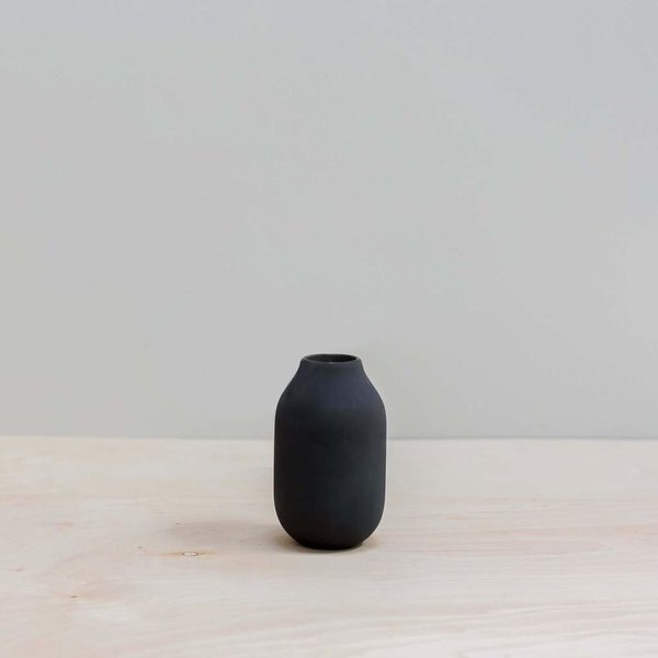 The Citizenry Black Engobe Vase - Short